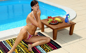 ALS Angels Megancox01 Megan Cox Poolside With Phallic Fruits