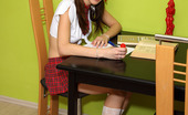 ALS Angels Candysweet01s Schoolgirl Candy Sweet Shows Us Her White Panties