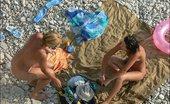 Beach Hunters Two Tanning Beauties Two Suntanning Seashore Beauties Get Totally Nude For Voyeur Pleasure