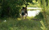 Beach Hunters River Beach Spy BJ Voyeured Dude Fucks The Mouth Of His Galfriend On A River Beach Meadow