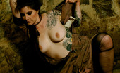 Michelle Aston 256991 Tattoo Chick In Heels Chained In Basement Dungeon