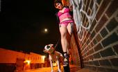 Michelle Aston High Heeled Tattooed Goth In High Heels Rooftop