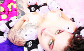 Michelle Aston Tattooed Goth Chick Gets Nude With Stuffed Animals