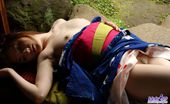 Idols 69 Tomomi Asian Tramp Tomomi Opens Kimono And Shows Her Hairy Pussy