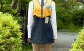 Idols 69 Kuramoto Anna Asian Slut In Pigtails And Uniform Shows Her Hairy Pussy Off