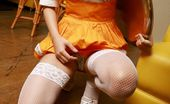 Idols 69 Saori Harada Lovely Asian Teen Maid In Fishnets And Maid Uniform