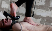 Under Feet Bossy Brunette In High Heels Squashes Sub'S Cock As If It Were A Dirty Worm