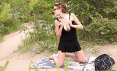 Only Big Melons Skinny Adriana Shows Her Melons By The Beach Nude Sunbathing