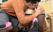 Anal Pantyhose Marion & Adam Job Interview Ends Up With Steamy Anal Onslaught For Cutie In Black Tights