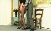 Anal Pantyhose Susanna & Mike Blondie In Barely Black Tights Getting Ass-Ramming Right At Art Exhibition