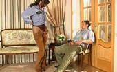 Anal Pantyhose Mirabel & Morris Naughty Gal Teasing Guy With Black Pantyhose Before Ass-Plundering On Floor