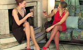 Backdoor Lesbians Susanna & Marion Hot Lesbo Spread On The Floor By A Strap-On Armed Babe Hungry For Tight Ass