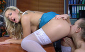 Backdoor Lesbians Denis & Barbara Strapon-Armed Office Babe Tricks Her Female Co-Worker Into Lesbian Anal Sex