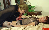 Strapon Sissies Rita & Maurice Hot Babe Admires The Size Of Her Strap-On Shoving It Into A Sissy Guy'S Bum