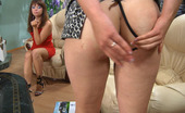 Backdoor Lesbians Jessica & Miriam Nasty Chick Hides A Dildo In Her Ass Aching For Sizzling Lesbian Adventures