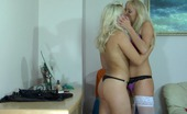 Backdoor Lesbians Linda & Leila Fiery Lesbian Blondie Wetting A Babe'S Asshole Before Stuffing Her Strap-On