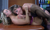 Backdoor Lesbians Denis & Aubrey Sexy Girls Go Lesbo At Work Shoving Their Fingers And Strapon Up The Brown