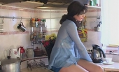Nylon Feet Videos Isabella & Adam Luscious Chick Treating Horny Guy With Her Yummy Nylon Feet In The Kitchen