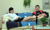 Nylon Feet Videos Sibylla & Oscar Randy Gal Pleasuring Rocky Rod With Her Nyloned Feet Before Doggystyle Bout