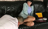 Nylon Feet Videos Katrine & Nicholas Wanton Chick Massaging Cock With Her Nyloned Feet Crying Out For Steamy Sex