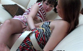 Nylon Feet Videos Rita & Emma Mischievous Gal Ready To Swallow The Whole Foot In Reinforced Toe Pantyhose