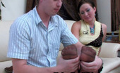 Nylon Feet Videos Gwendolen & Arthur Lusty Gal In Reinforced Toe Tights Going For A Hot Score After Foot-Licking