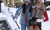 My Sexy Kittens Anastasia Devine Two Teenage Girls Pleasing Eachother In The Freezing Snow