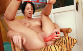 My Sexy Kittens Aliz Adorable Nude Cutie Inserts Dildo Into Her Soaked Pussy