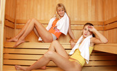 My Sexy Kittens Rose Delight Two Cute Teenage Lesbian Chicks Hving Hot Sex In The Sauna
