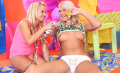 My Sexy Kittens Bella Anne Two Cute Teenage Lesbians Playing With A Pie And Their Pussy