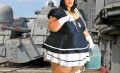 CJ Wright Xxx BBW Sailor In Vintage Art Porno