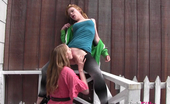 Club Filly Madison Young & Ela Darling Ela Darling And Madison Young Bend Each Other Over