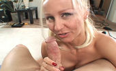 Trixie Swallows Bubbly Blonde Big Tit Blonde Gives A Blowjob And Swallows