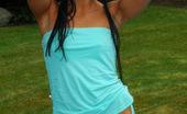 Trista Stevens Sexyaquann Trista Wearing Sexy Aqua Lingerie