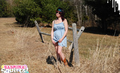Sabrina Squirts 270346 Wearing A Cute Blue Dress And Cowboy Boots, Sabrina Ventures Outside On Another Sunny Spring Day To Show Off Her Goods For The Camera. Cute!