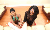 Ebony Tugs Divinity Bust A Nut For Us Two Ebony Slut Jerks Off Big Throbbing Dick
