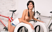 Showy Beauty Sabina Sporty Teen Brunettebike Sport Is Part Of Healthy Life Style Just Like Sex Is Part Of Well Being. This Adorable Cutie Succeeds With Combining Those Two.