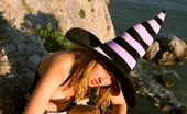 Showy Beauty Lesya Mad Decision Hornybustywitch Black Boots, A Cute Black Dress And A Sexy Blonde Babe Is All It Takes To Make You Go Mad While Viewing The Images.