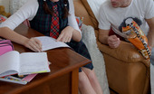 Smack My Bitch Yulia Pigtailed Schoolgirl Anal Sex Yulia Sits At The Table In Her School Uniform Trying To Work Hard But The Guy Keeps Flirting And She'S Bored. She Looks Adorable In Her Braided Pigtails And Eventually She Gives Up And Sits On The Couch With Him, Knowing Full Well That She'Ll Soon Be