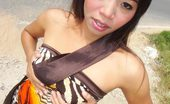 Submit Your Thai Pum Slim Thai Girlfriend Flashing Outdoors By The Side Of The Road