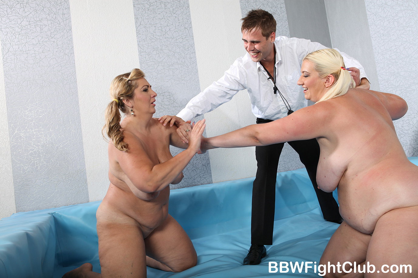 Naked fatties monika and jitka wrestling at bbw fight club 10