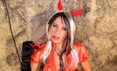 Leony Aprill Hot Devil Loving Sweetheart Fondling A Long Hard Schlong