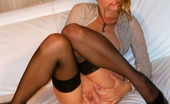 Leony Aprill Dripping Wet Blonde Strokes Cooch With Her Soaked Hands