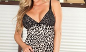 Samantha Saint Samantha Saint Shows Off Her Amazing Tits And Great Ass In This Fun Photo Set Brown Couch Hottie