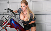 Kelly Madison Bitchin' Biker BJ Riding A Bike And Riding A Cock Aren'T Exactly The Same Thing, But Kelly Is A Pro At Both Disciplines!