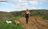 Kelly Madison Titty Trekking Out And About On My Little Trek Through The Dirt Roads, I Just Can'T Help But Pull My Titties Out, The Air Feels Great On Them.