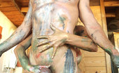 Kelly Madison Kelly'S Art Project When The Creative Juices Are Flowing Through Kelly, She Needs A Project And She Needs It Quick, What Better Than A Bit Of Nude Painting.
