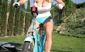 Kelly Madison Dirty And Curvy Cruising Around My Yard, I Decided That Some Yard Work Was In Order, I Love To Get Dirty!