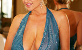 Kelly Madison Breast Dressed Diva Kelly Is Wearing A Blue See Thru Gown And Showing Off Her Body In The Mirror.