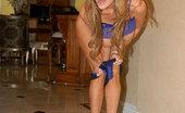 Kelly Madison Breakfast With Kelly 277307 Kelly Pleasures Herself In The Hallway In A Blue Fringe Bra.
